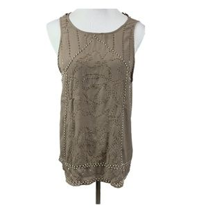 NEW BKE Boutique beaded sequin shell tank top